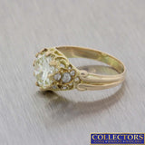 1880s Antique Victorian 14k Yellow Gold 2.89ctw Diamond Engagement Ring EGL $27110 E8