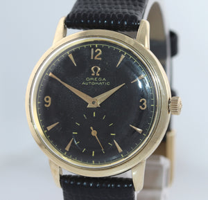 SERVICED Vintage Omega Solid 14k Gold Automatic Bumper Cal. 342 33mm Watch