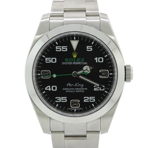 NEW 2018 Rolex Air-King 116900 Green Arabic 40mm Steel Oyster Watch Papers G8