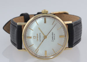 Vintage Omega Seamaster DeVille Solid 14k Yellow Gold Automatic 34mm Watch