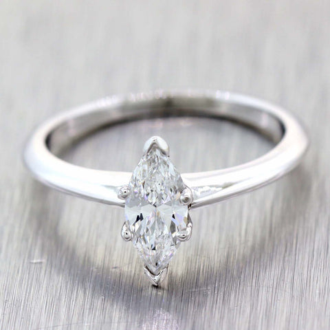 Tiffany & Co. Marquise Cut .70ct D SI2 GIA Platinum Diamond Engagement Ring t1