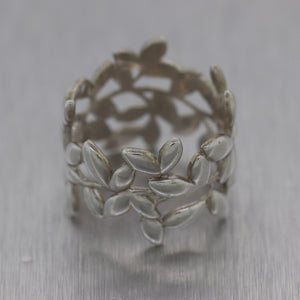 Tiffany & Co. Paloma Picasso Sterling Silver Olive Leaf Band Ring
