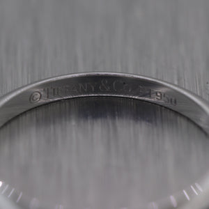 Tiffany & Co. Platinum Knifeedge Wedding Band Ring