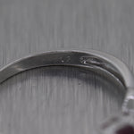 Vintage Estate 14k White Gold 0.25ctw Ruby & Diamond Ring