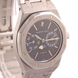 Audemars Piguet Royal Oak Day Date Moonphase Steel 36mm Black 25594SA Watch A9