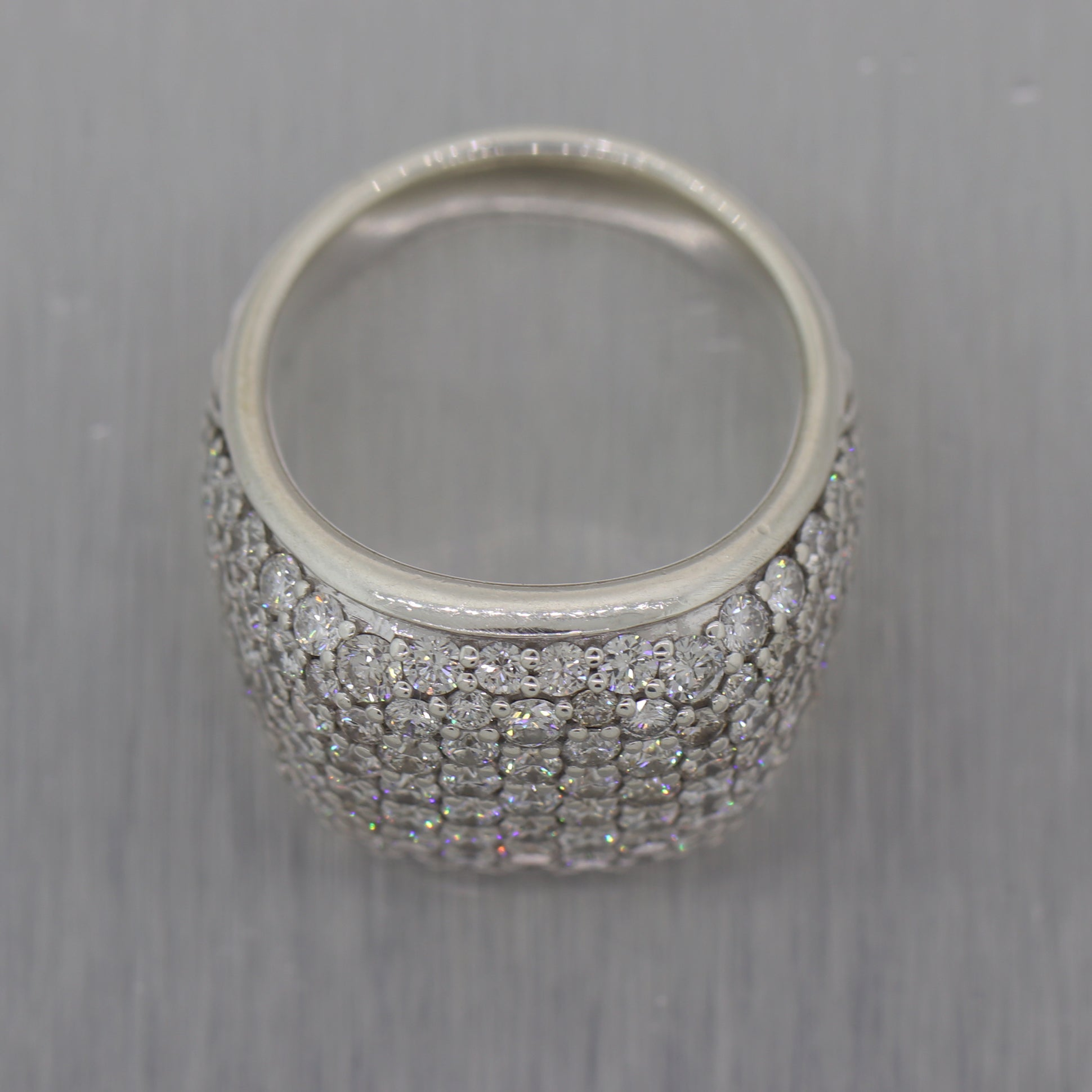 David Yurman Sterling Silver 5ctw Diamond Ring