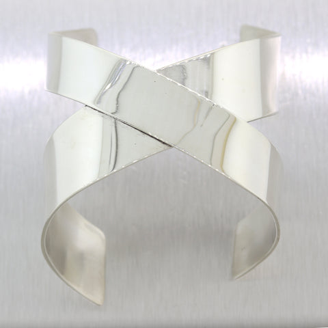 Angela Cummings Tiffany & Co. Sterling Silver Criss Cross X Bracelet