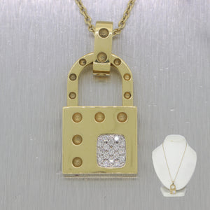"Roberto Coin 18k Yellow Gold Pois Moi 0.40ctw Diamond 17"" Necklace"