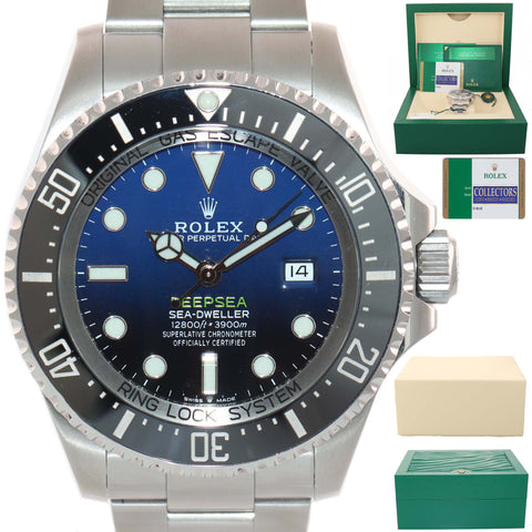 MINT PAPERS 2018 Rolex Sea-Dweller Deepsea Cameron Blue 126660 44mm Watch Box