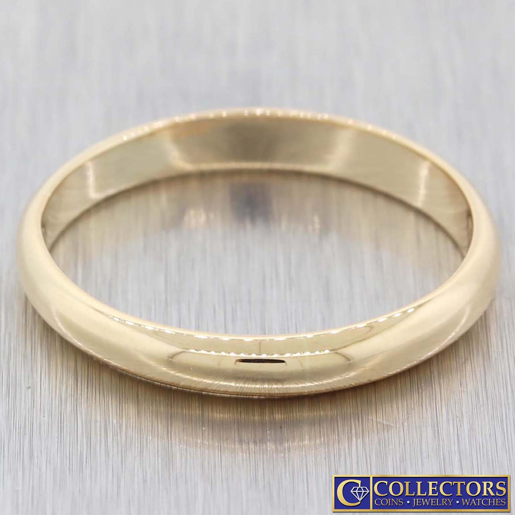 Men's 18k Solid Yellow Gold 3mm Wide Wedding Band Ring 4.7g US 12.25