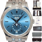 PAPERS Patek Philippe Blue 5396/1G Annual Calendar 18k White Gold Bracelet Watch Box