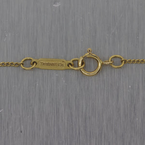 "Tiffany & Co. Vintage Estate 18k Yellow Gold Window 17"" Necklace"