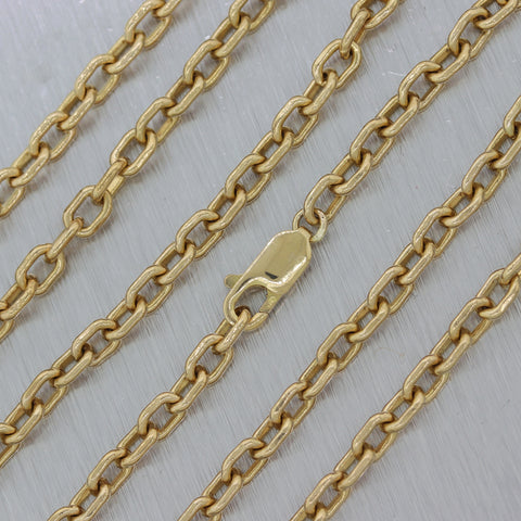 "Men's 25.44g 14k Yellow Gold Cable Link 26"" Chain Necklace"