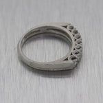 1940's Vintage Estate Platinum 0.28ctw Diamond Wedding Band Ring