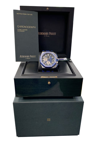 NEW Audemars Piguet Royal Oak Offshore Ceramic Black Blue 26405CE.OO.A030CA.01
