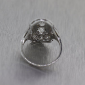 1920's Antique Art Deco Platinum 1.50ctw Diamond Ring