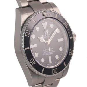 MINT 2017 PAPERS Rolex Submariner No-Date 114060 Steel Black Ceramic Watch Box