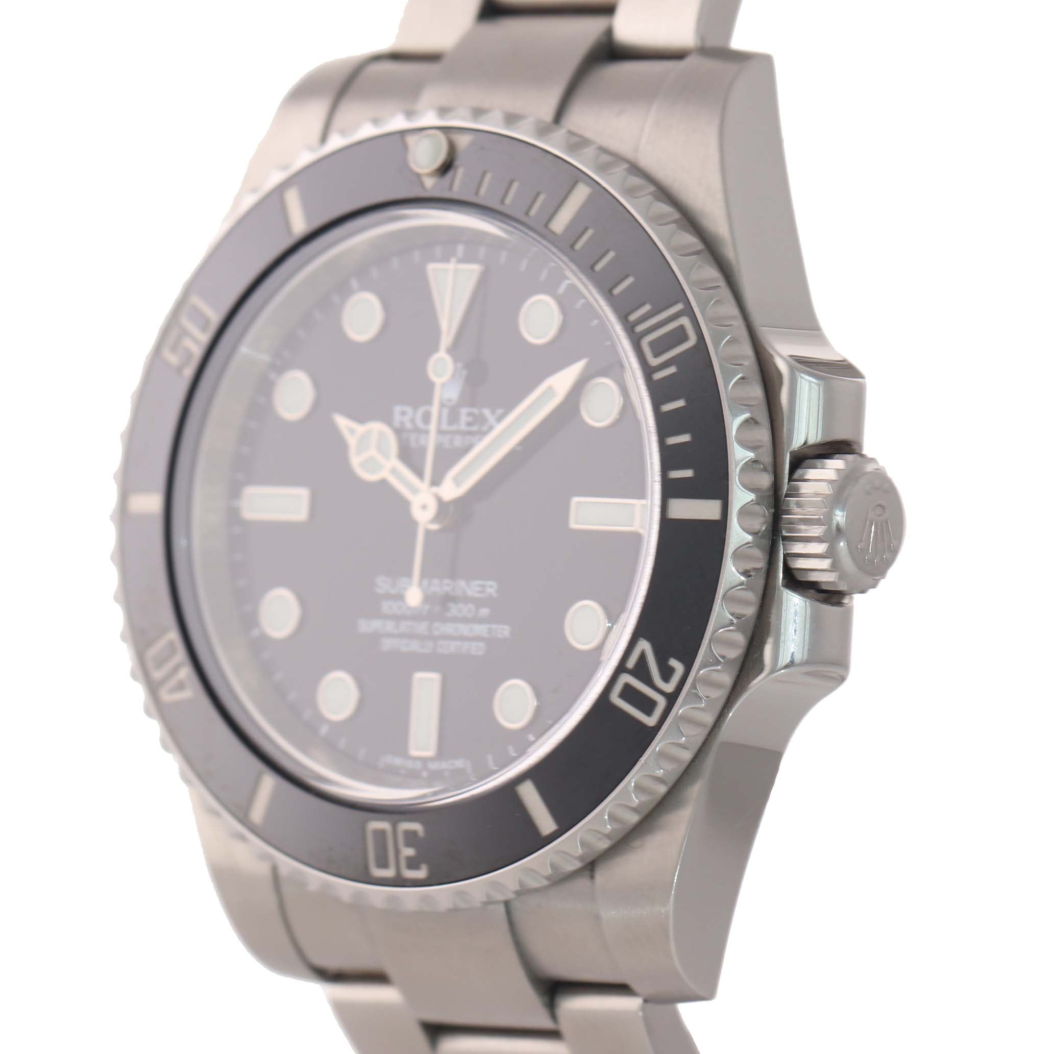 2018 PAPERS MINT Rolex Submariner No-Date 114060 Steel Black Ceramic Watch Box