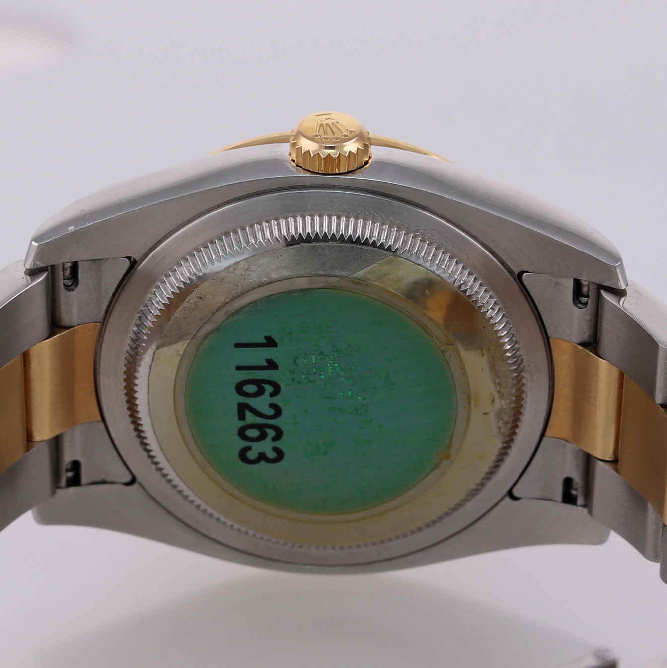 NOS Rolex DateJust 116263 Turn-O-Graph 36mm Thunderbird Champagne Watch Box