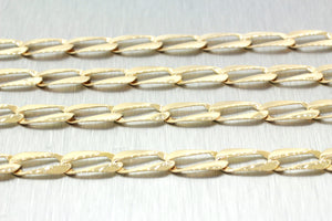 "Men's Modern 14k Solid Yellow Gold 24"" 13.9g Long Link Chain"