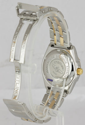 Breitling Wings Two-Tone 18K Gold Stainless Silver 31.5mm D67050 Quartz Watch