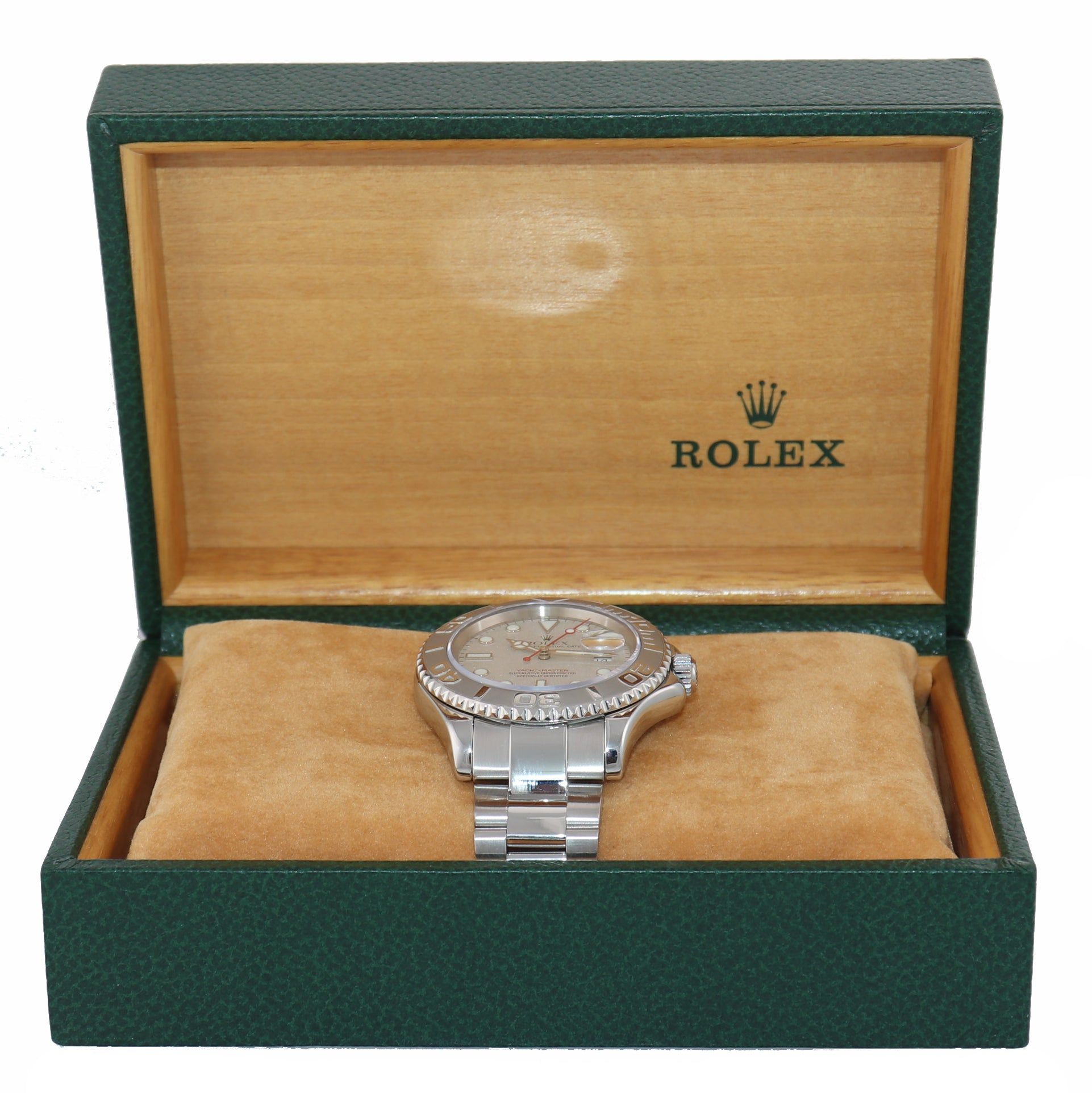 MINT BOX AND PAPERS Rolex Yacht-Master 16622 Steel Platinum Dial 40mm Watch