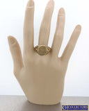 1910 Antique Art Nouveau 14k Yellow Gold Monogrammed Engraved Signet Ring G8