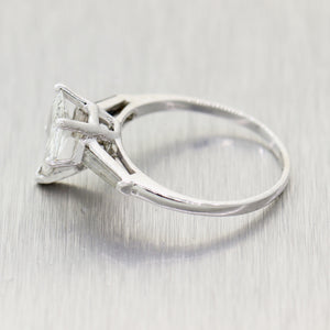 Pear Shape Antique Cut 1.22ct GIA Diamond Platinum 1.42ctw Engagement Ring