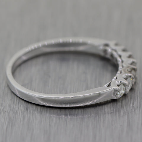 Vintage Estate 18k White Gold 0.36ctw Diamond Wedding Band Ring