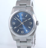 NEW 2020 PAPERS 116000 Rolex Oyster Perpetual Blue Arabic Stick 36mm Watch Box