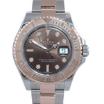2018 PAPERS Rolex Yacht-Master 116621 CHOCOLATE 18K Everose Gold Two Tone Watch