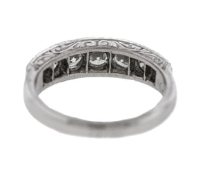 Ladies Vintage Estate 14K White Gold 1.57ctw Diamond Filigree Engagement Ring