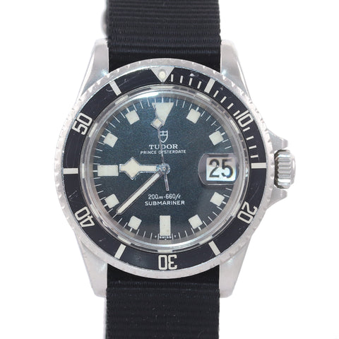 RARE Tudor Submariner Steel 40mm Matte Black Snowflake 7021/0 Nato Watch
