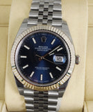NEW SEP 2018 STICKERED Rolex DateJust 41 126334 Blue Stainless Steel Jubilee 41m