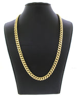 "Men's Modern 10k Solid Yellow Gold 29"" 25.8g Cuban Link Chain"