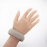 Tiffany & Co. Sterling Silver Extra Wide Mesh Somerset Bracelet