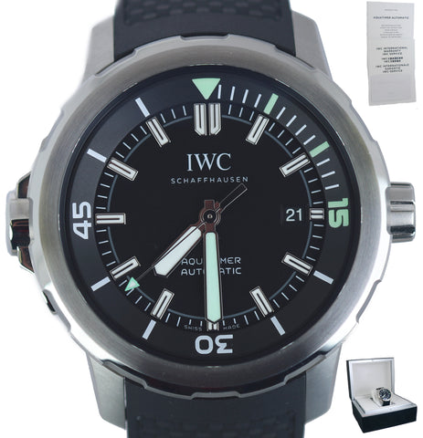 NEW 2020 IWC Aquatimer Automatic Black 42mm 3290-01 IW329001 Automatic Stainless