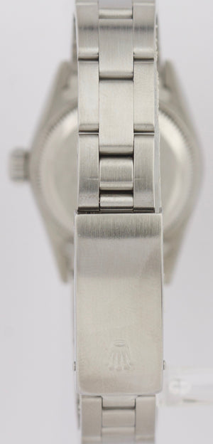 Ladies Rolex Oyster Perpetual 24mm Salmon Arabic 67180 Stainless Oyster Watch