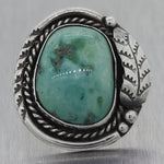 Vintage Estate Navajo Sterling Silver Old Pawn Turquoise Ring