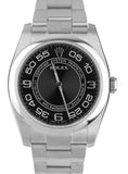MINT Rolex Oyster Perpetual 116000 36mm Black Concentric Stainless Steel Watch