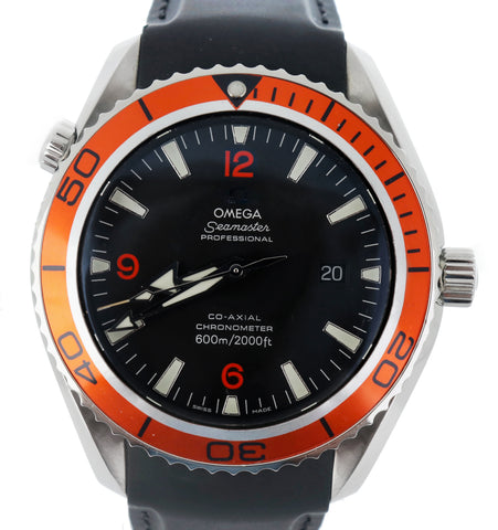 Men's Omega Seamaster Planet Ocean XL 45.5mm Co-Axial 600M 2208.50 Orange Watch
