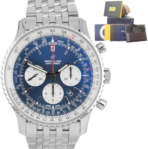 BRAND NEW 2019 Breitling Navitimer 01 Blue Automatic Chronograph 46mm AB012721