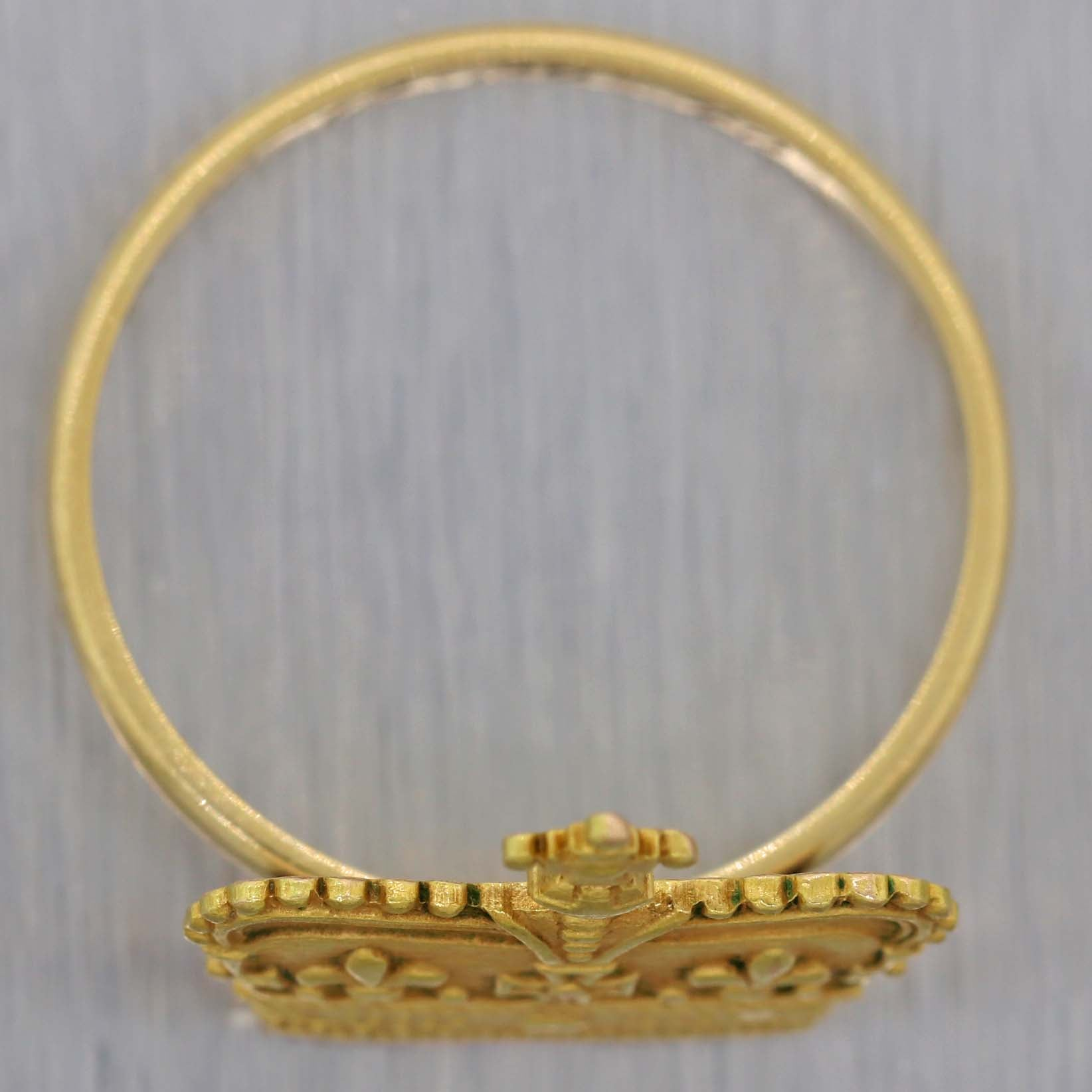 1890s Antique Victorian Estate Solid 14k Yellow Gold Crown