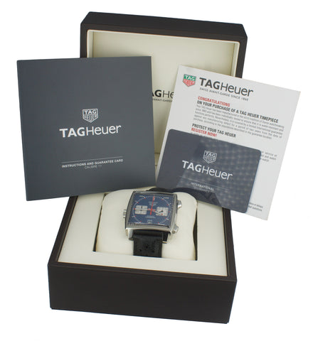 NEW NOV 2019 Tag Heuer Monaco Steve McQueen Denim 39mm CAW211P Automatic Watch