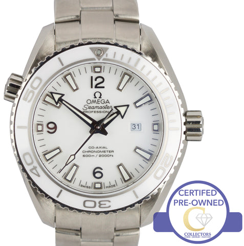 Omega Seamaster Planet Ocean Co-Axial 37.5mm White Watch 232.30.38.20.04.001