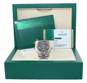 2018 MINT Rolex DateJust 41 Wimbledon Roman 126334 Watch