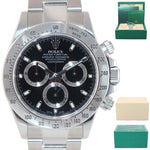 2016 CHROMALIGHT Rolex Daytona Cosmograph 116520 Black Steel New Clasp Watch Box