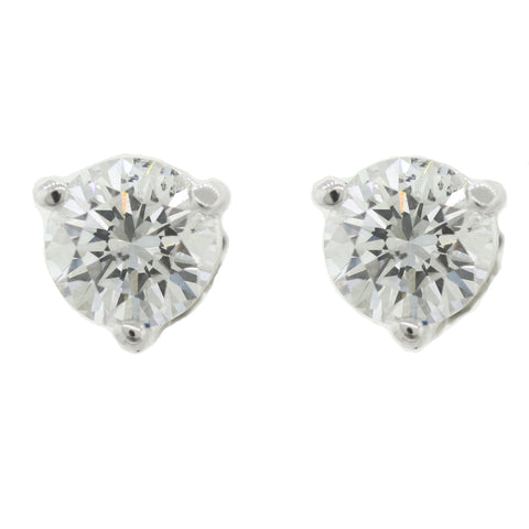 Martini Cup Modern Platinum 1.30ctw Diamond Stud Earrings