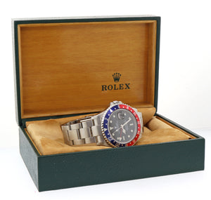 Rolex GMT-Master II 16710 Steel Date Pepsi Oyster 40mm Watch Box Papers L8