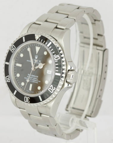 2009 MINT Rolex Sea-Dweller 16600 T No-Holes V Stainless 40mm Black Dive Watch